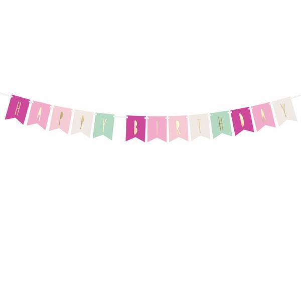 Girlande Banner Happy Birthday ROSA