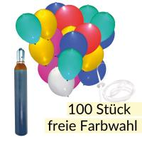 Led Ballon Set 100 Mit Helium Ballons Und Band Balloon Fantasy