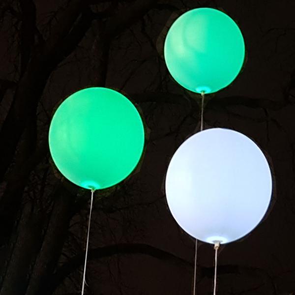 XXL LED Ballon mit Fernbedienung 3er Set