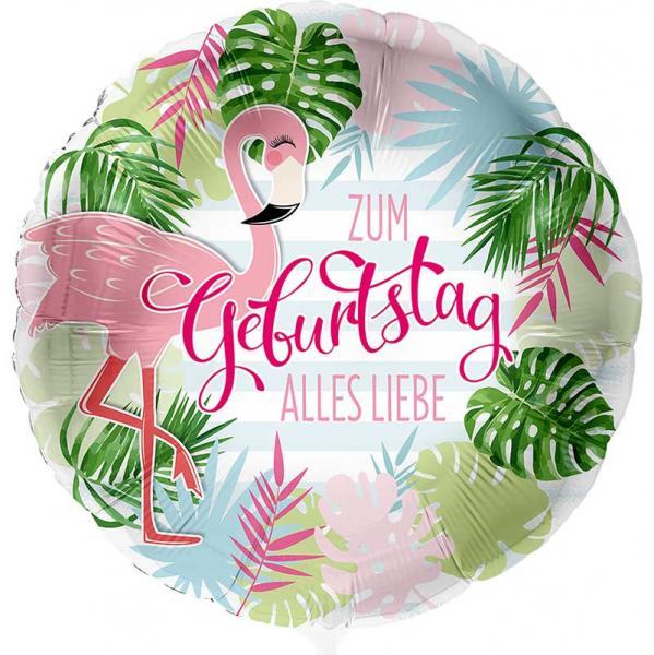 Flamingo Alles Liebe Folienballon