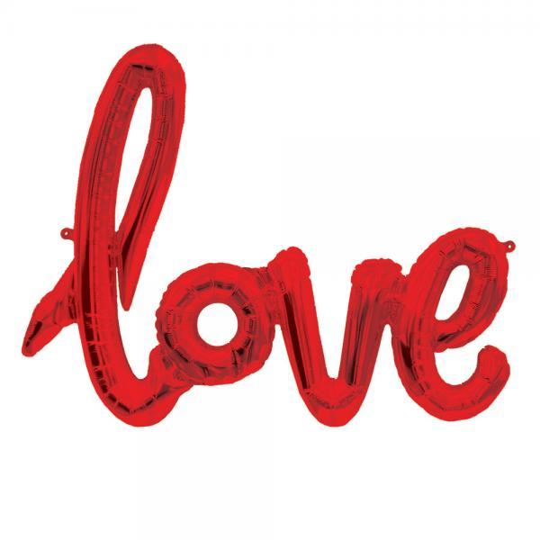 Love Script Ballon rot