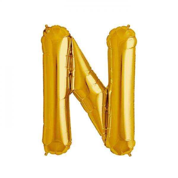 Buchstabe N Folienballon Gold