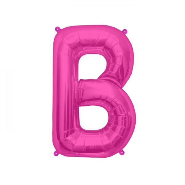 Buchstabe B Folienballon Pink