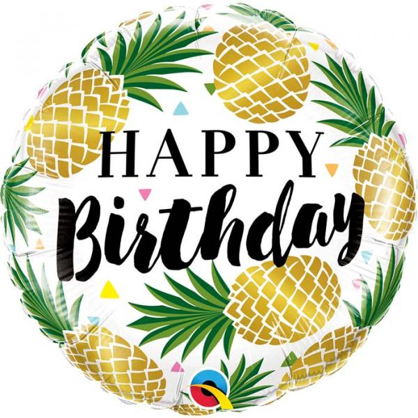 Happy Birthday Ananas Ballon