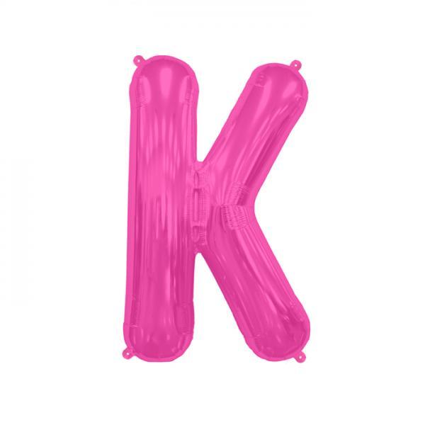 Buchstabe K Folienballon Pink