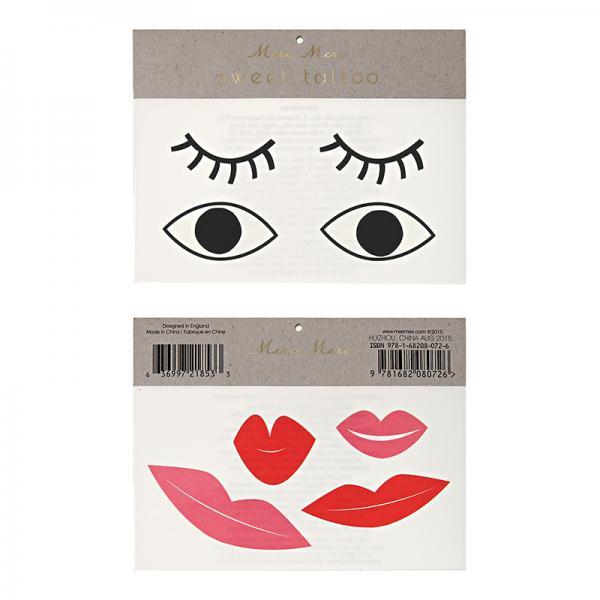Augen und Mund Tattoos