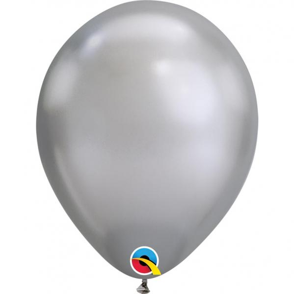 Chrome Metallic Luftballon Silber