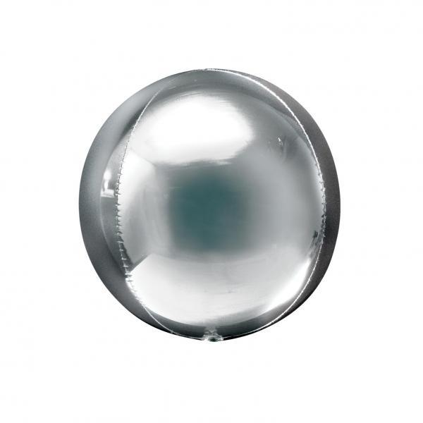 Orbz Kugel Folienballon Silber 25cm