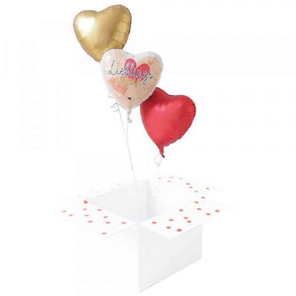 3 Ballons zum Muttertag Lieblingsmama
