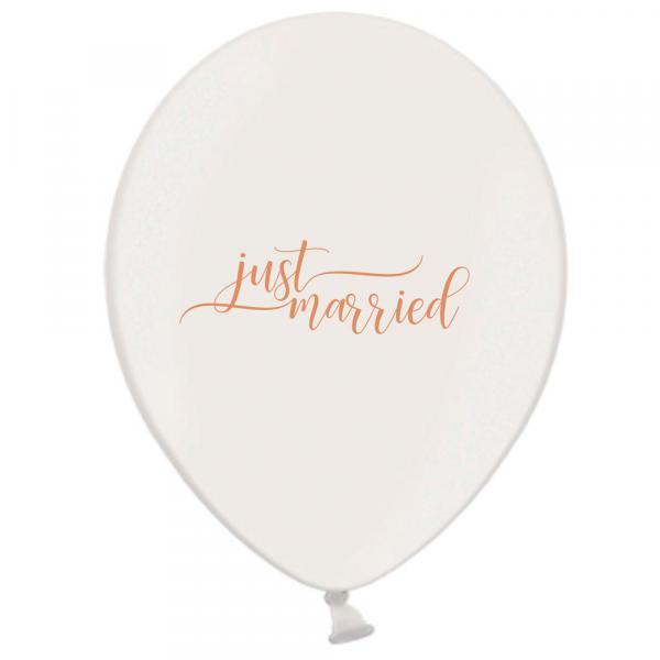 Luftballon Just Married Weiß