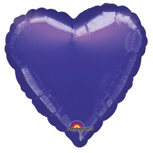 Folienballon Herz Violett