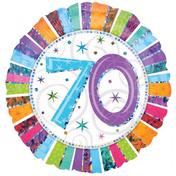 Radiant Birthday Happy Birthday 70. Geburtstag Folienballon