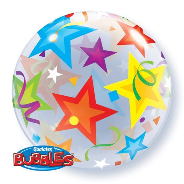 Bunte Sterne Bubble Ballon