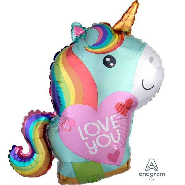I love YOu Einhorn Ballon