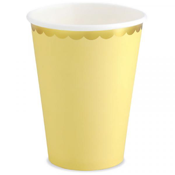 Partybecher Gelb Pastell
