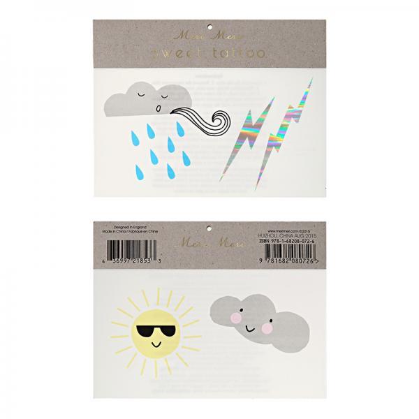 Sonne und Wolken Tattoos