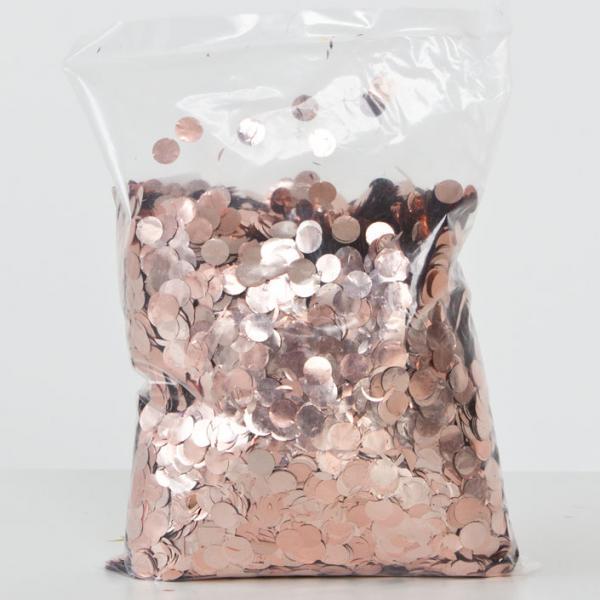 Konfetti Rosegold rund 500 g Packung