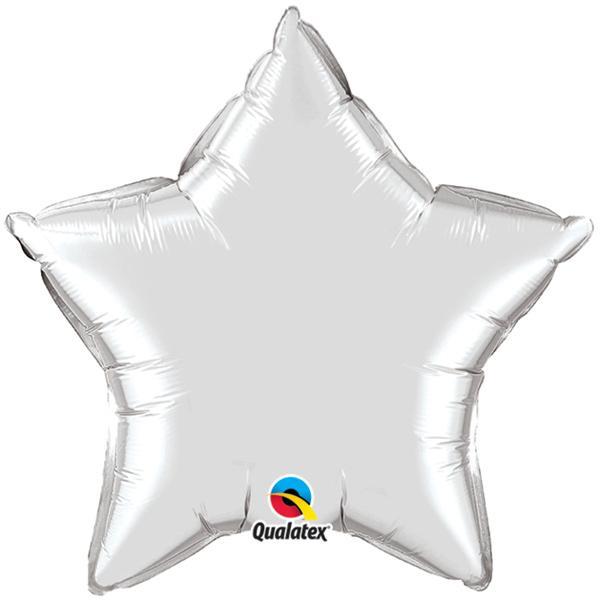 Ballon Stern Silber
