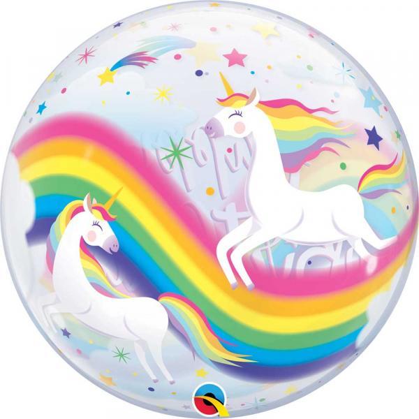 Regenbogen und Einhorn Bubble Ballon