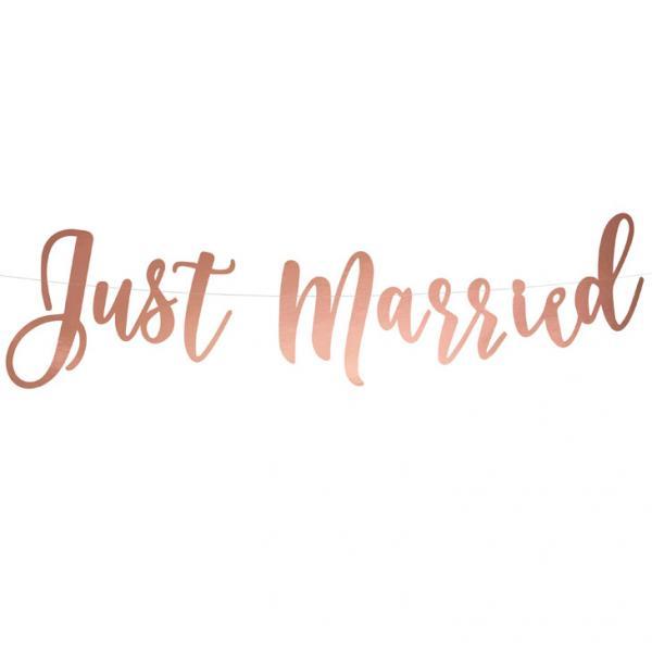 Just Married Rosegold Girlande