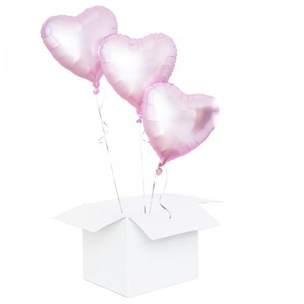 3 Ballons mit Helium zum Valentinstag