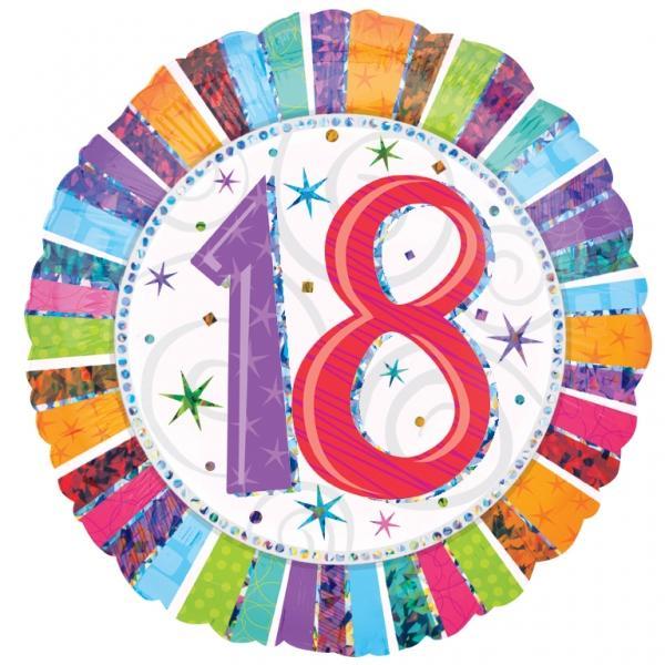 Radiant Birthday Happy Birthday 18. Geburtstag Folienballon