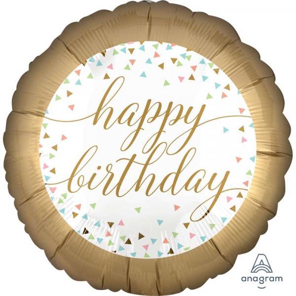 Happy Birthday TO YOU pastel konfetti