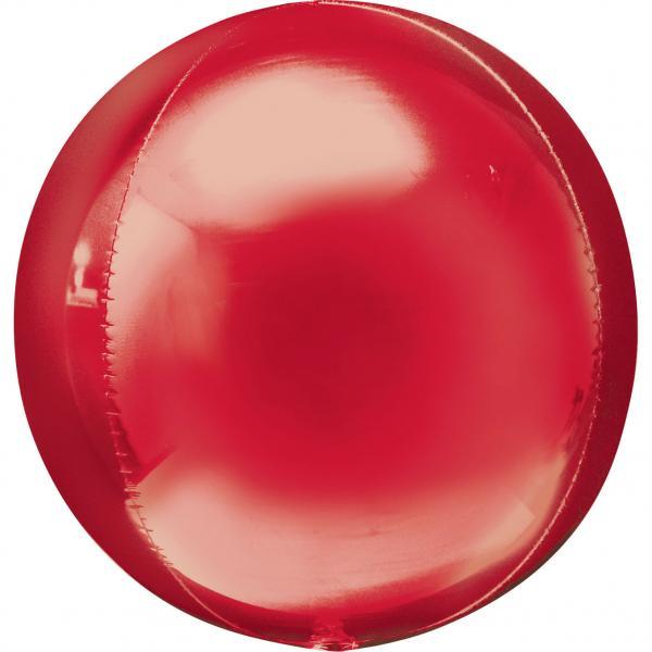 Orbz Kugel Folienballon Rot 45cm