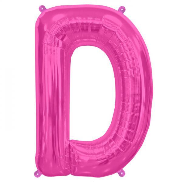 Buchstabe D Folienballon Pink XXL