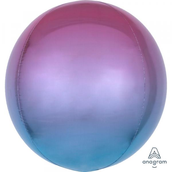 Orbz Kugel Folienballon Lila Blau Verlauf 45cm