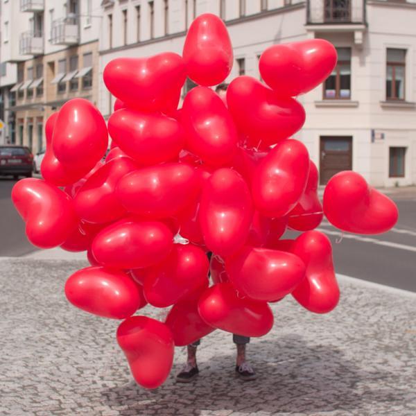 Herzballon Helium Set 100