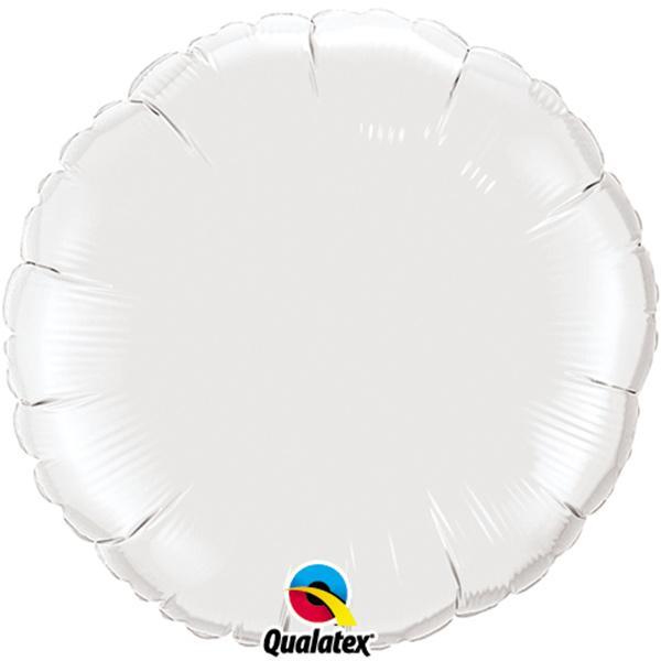 Folienballon Rund weiß