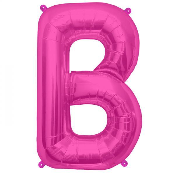Buchstabe B Folienballon Pink XXL