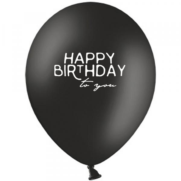 HAPPY BIRTHDAY Luftballon Schwarz