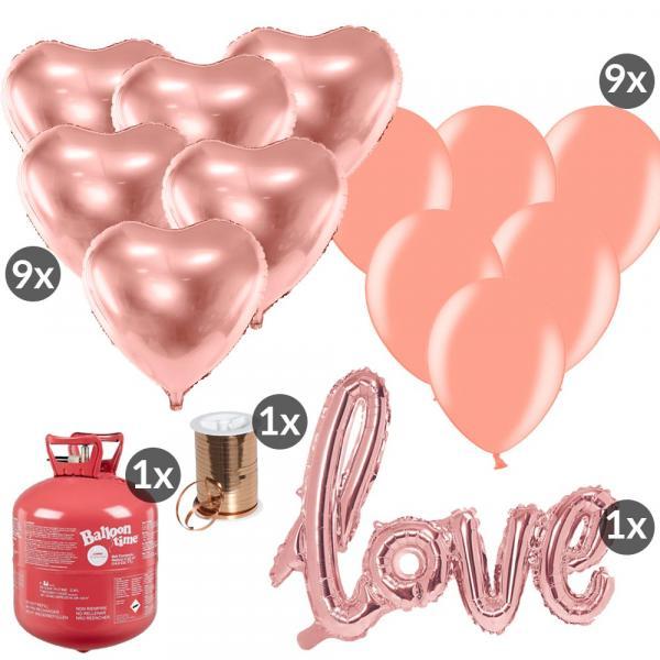 Ballon Set Rosegold Heiratsantrag