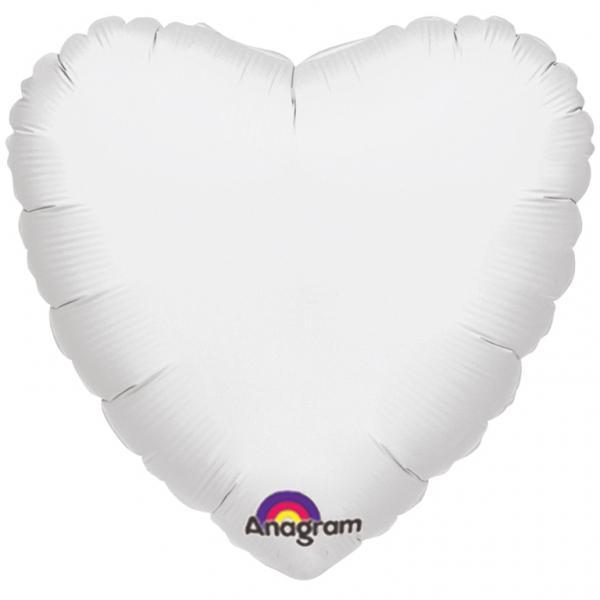 Ballon Herz weiß
