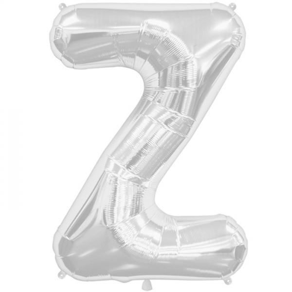 Buchstabe Z Folienballon Silber XXL