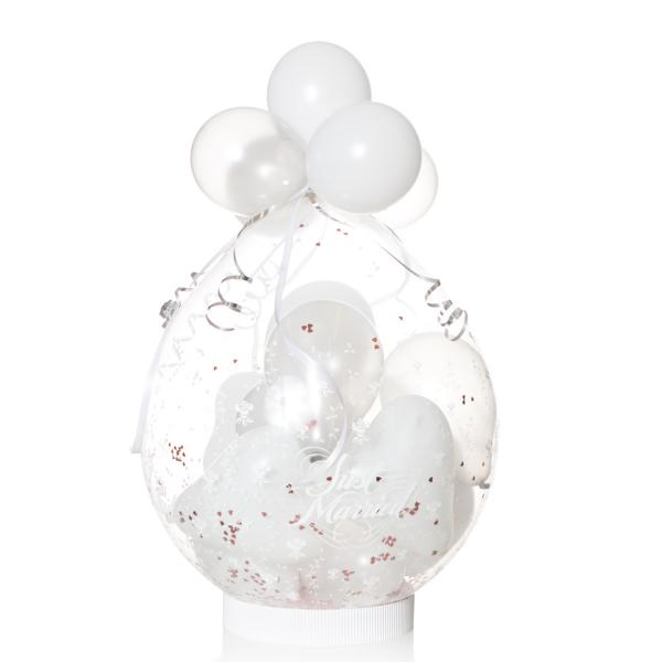Geschenkballon: Just Married Flowers