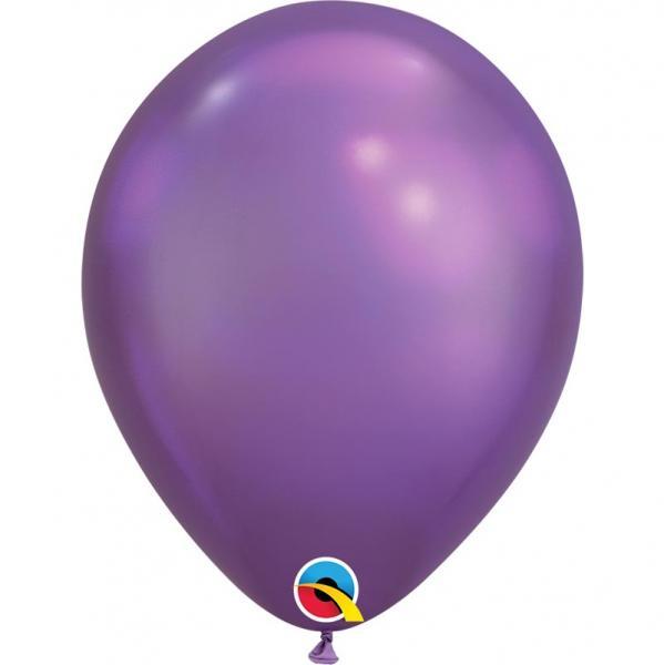 Chrome Metallic Luftballon Lila