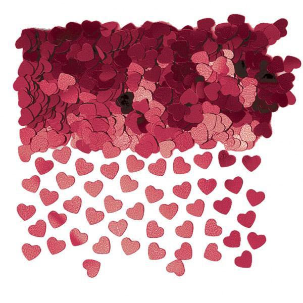 konfetti herz rot