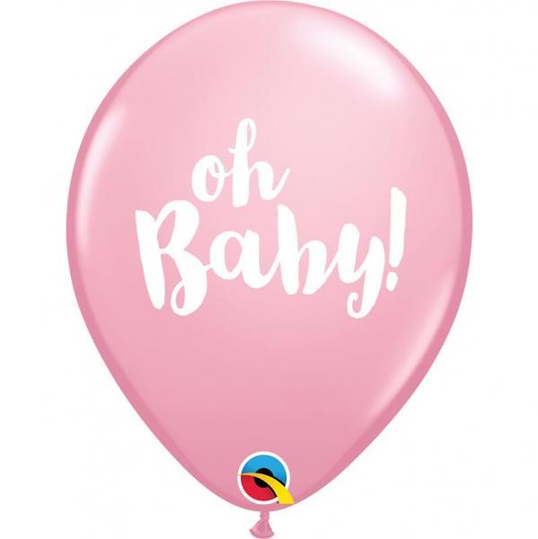 Oh Baby rosa Luftballon