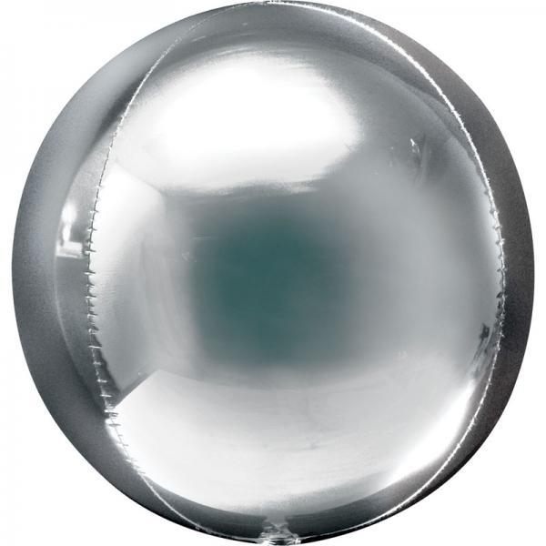 Orbz Folienballon Silber