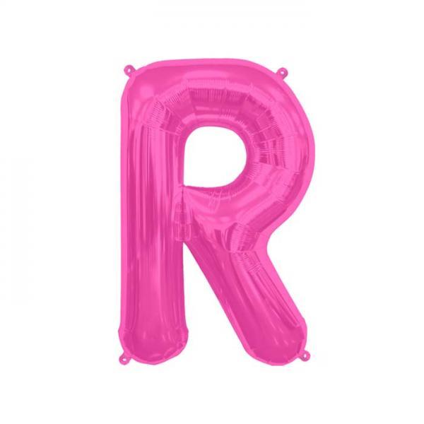Buchstabe R Folienballon Pink