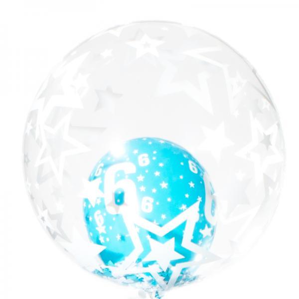 Schwebender Geschenkballon: Alles Gute - Sterne