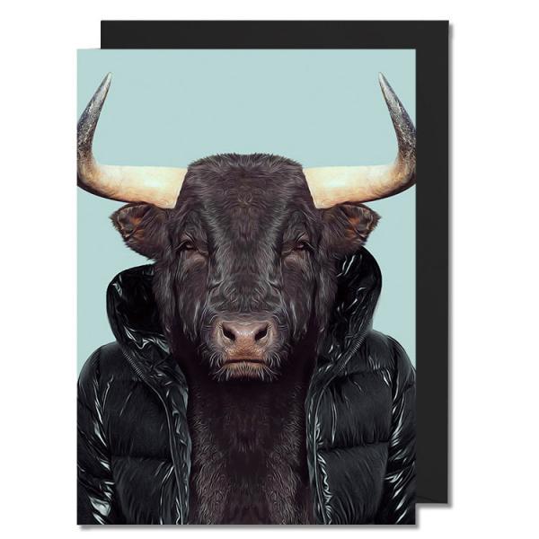 Postkarte Zoo Portraits - Bulle