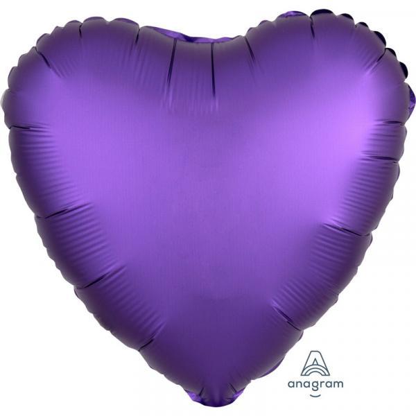 Folienballon Herz Violett Chrome