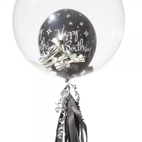 Schwebender Geschenkballon: Durchsichtig