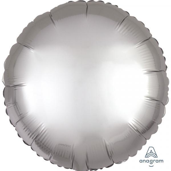 Folienballon Rund Silber Chrome