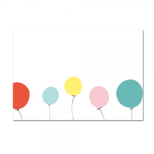 Grußkarte Ballons