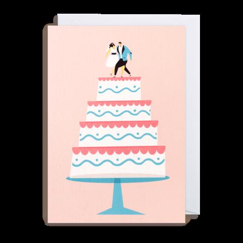 Grußkarte Hochzeitstorte
